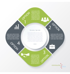 Business concept design with 4 segments vector