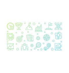 business goals modern outline vector image