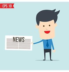 Business man show news board vector