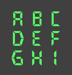 calculator digital green text vector image