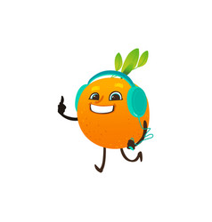 cartoon orange party character vector image
