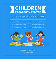 Children creativity center banner template art vector
