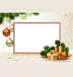 Christmas greeting- card vector