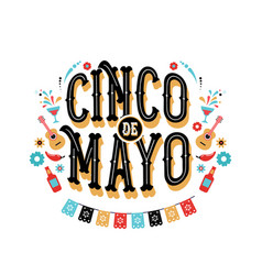 cinco de mayo banner and poster design with flags vector image