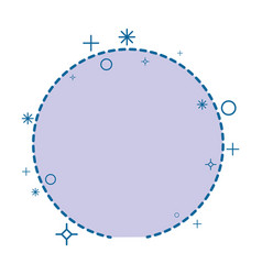 Circular frame icon vector