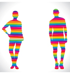 Color couple design with strip vector