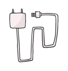 color single sketch charger for mobile vector image
