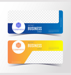 colorful abstract business banner template vector image