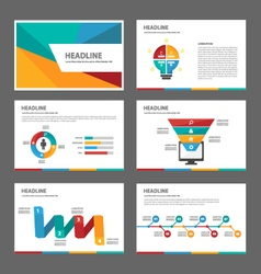 Colorful set presentation templates Infographic vector image