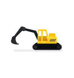 crawler excavator with bucket heavy construstion vector image