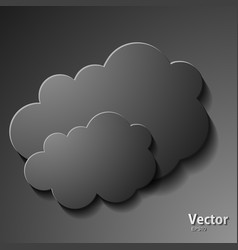 creative cloud background for your business vector image