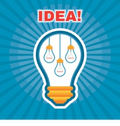 Creative Idea - Light Bulb Concept vector image