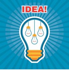 Creative Idea - Light Bulb Concept vector