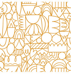 creative thinking good thinking golden outline vector image