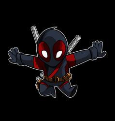 cute ninja vector image