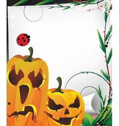 Cute pumpkin monsters vector image