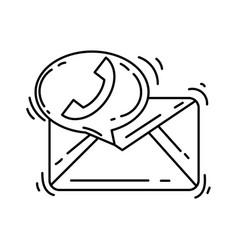 e-commerce contact icon hand drawn icon set vector image