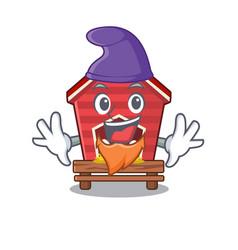 Elf chicken coop isolated in mascot vector