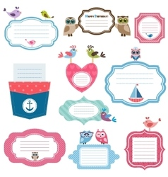 Frames and stickers for scrapbooking vector