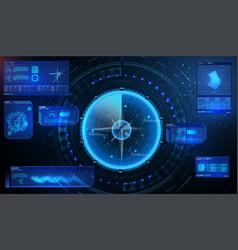 futuristic radar military navigate sonar vector image
