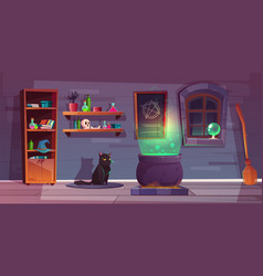 Game background of witch house quest vector