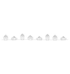 gift boxes set continuous line vector image