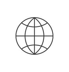Globe thin line icon vector