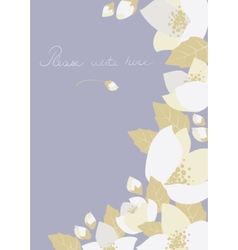 Greeting card with jasmine flowers vector