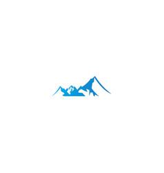 high mountain nature logo vector image
