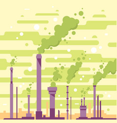 industrial pipes with smoke vector image