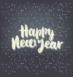 inscription happy new year with snowflakes vector image