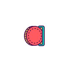 Insert coin icon line design business icon design vector