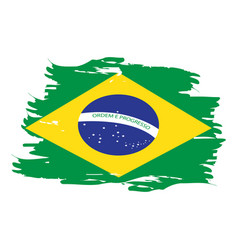 isolated brazilian flag vector image