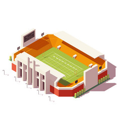Isometric low poly football stadium vector