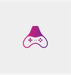 Letter a game logo design template gamepad icon vector