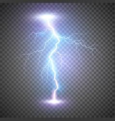 lightning flash bolt or thunderbolt blue vector image