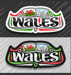 Logo for wales vector