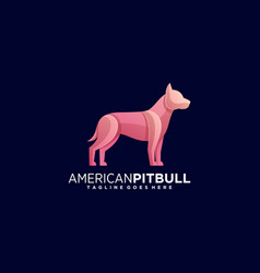 Logo pit bull gradient colorful style vector