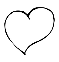 love heart sign on white background doodle vector image