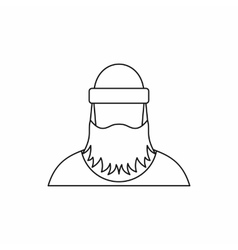 Lumberjack icon outline style vector