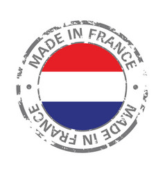 made in france flag grunge icon vector image