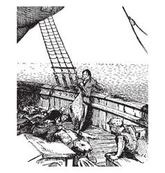 mariner vintage vector image