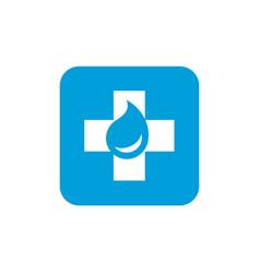 medicine or first aid medical logo design vector image