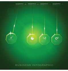 Modern Octagon Business Infographic Background vector image