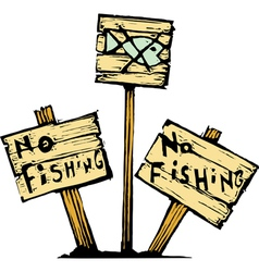 No fishing vector