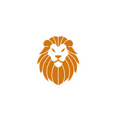 orange lion head and face for logo design vector image