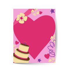 Party invite in a4 size with love vector