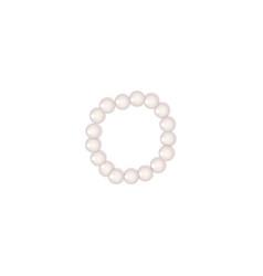 Pearl bead bracelet or pearl choker on white vector