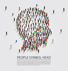 People head sign head group people vector