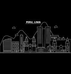 Peru silhouette skyline city peruvian vector